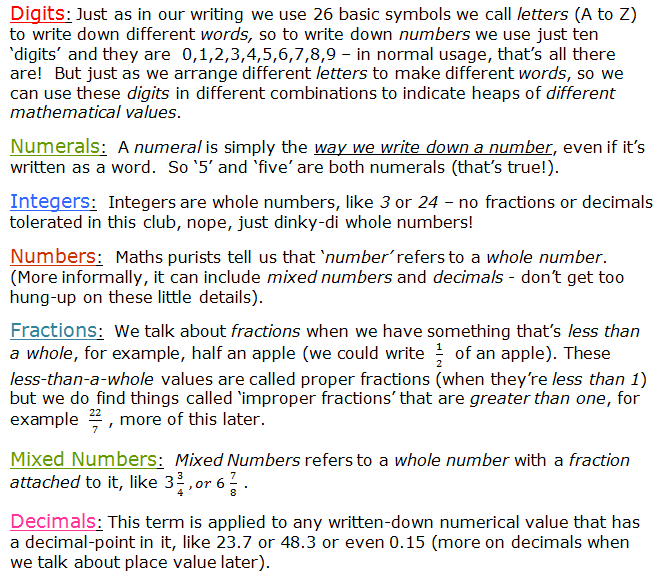 Basic numbers  Part 1